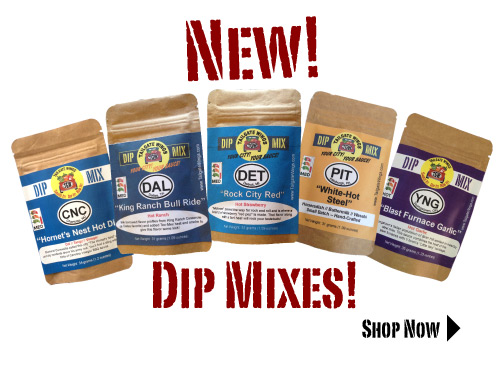 Convenient dip mixes for your tailgate party! Just add to 8 ounces of sour cream or cream cheese and serve with veggies, crackers or pretzels!