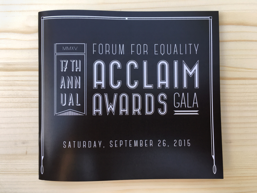 2015 Forum for Equality Acclaim Awards