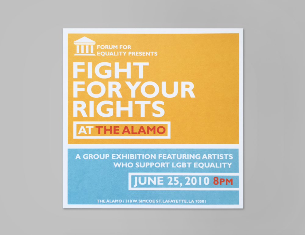 Fight for Your Rights group exhibition