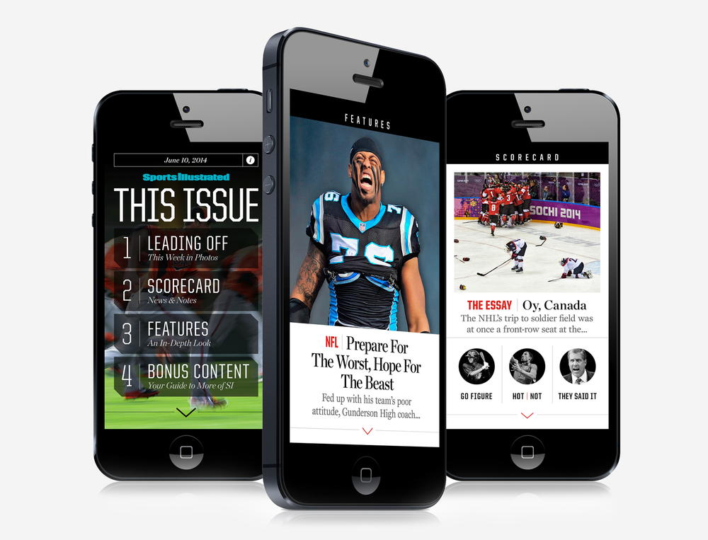 SPORTS ILLUSTRATED MOBILE APP /  UI/UX Design View Project→