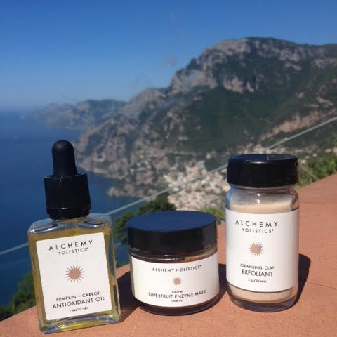Alchemy Holistics lookin' pretty on its trip to the Amalfi Coast this May.