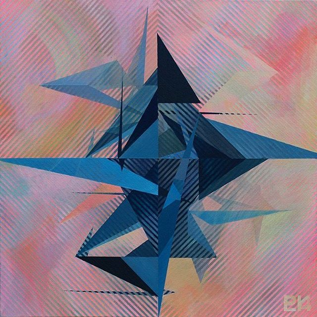 Sold this painting for a price that felt so right and made me so proud. Booyeah ! . . . . .  #paulaluciastudio #artistsoninstagram #abstract #abstractart #abstractpainting #acrylicpainting #geometricart #art #painting #stripes #pink