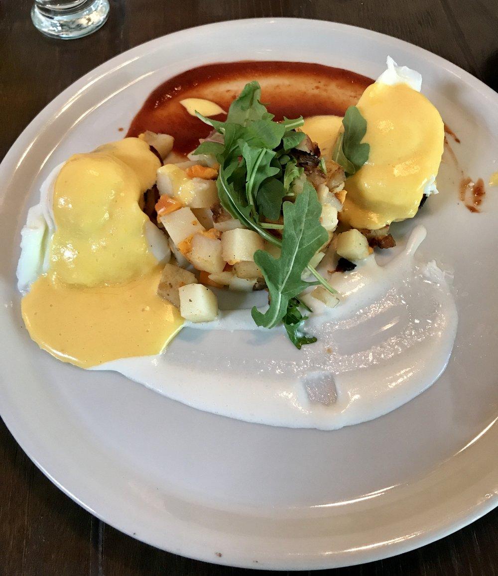 Curious Cafe Eggs Benedict