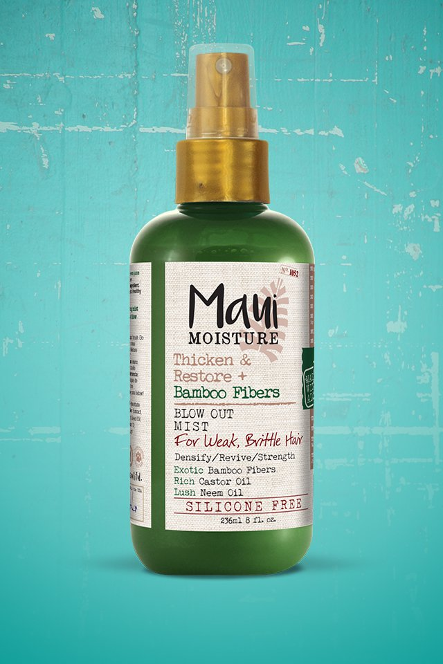 Maui Moisture Bamboo Fibre Blow Out Mist - Smells so good and makes your hair feel thicker and softer!