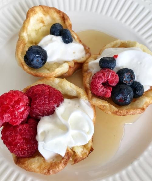 mini puffed oven pancakes
