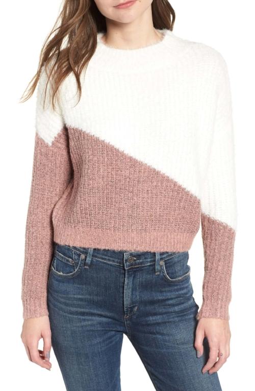colorblock sweater nordstrom