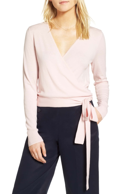This sweater is really similar and it also comes in petite.