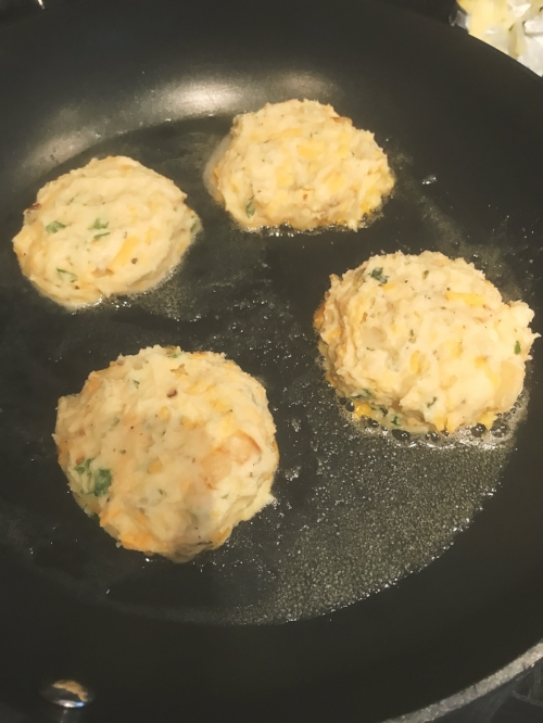Cheese and Onion Mashed Potato Patties