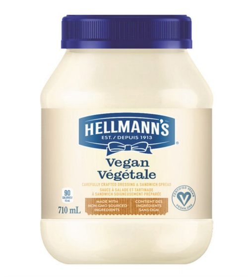 This is the mayo I used (well, I use it all the time!) and it tastes just like mayo with eggs.