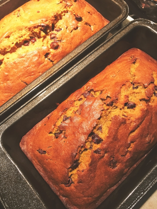 Pumpkin Chocolate Chip Loaf