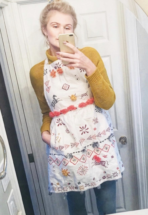 Here I am in Said Apron