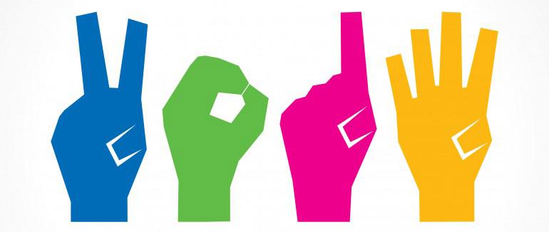 04. Fais avec des mains, pour les gens plus créatifs. Et ceux qui comprennent le langage des signes.