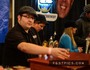 Craig slinging beers for Woodstock Inn and Brewery at the Beer Summit Winter Jubilee last year in Boston. Photo by FestPics.com