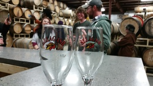 Time for a tasting in the Wild Barrel Room!