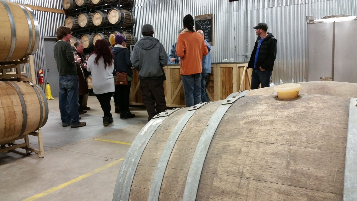Everyone had a chance to try the recently released Helena, an American Wild ale aged in oak wine barrels.