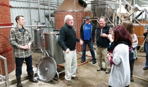 At D.L. Geary Brewing company, the team from Andy's was greeted warmly by the founder David Geary.