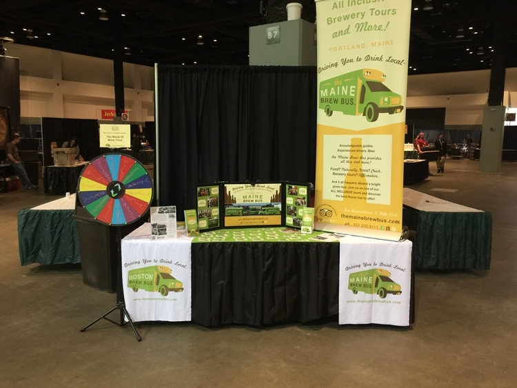 Our table in Pod 23 at Brew Woo festival at the DCU Center,Worcester, MA.
