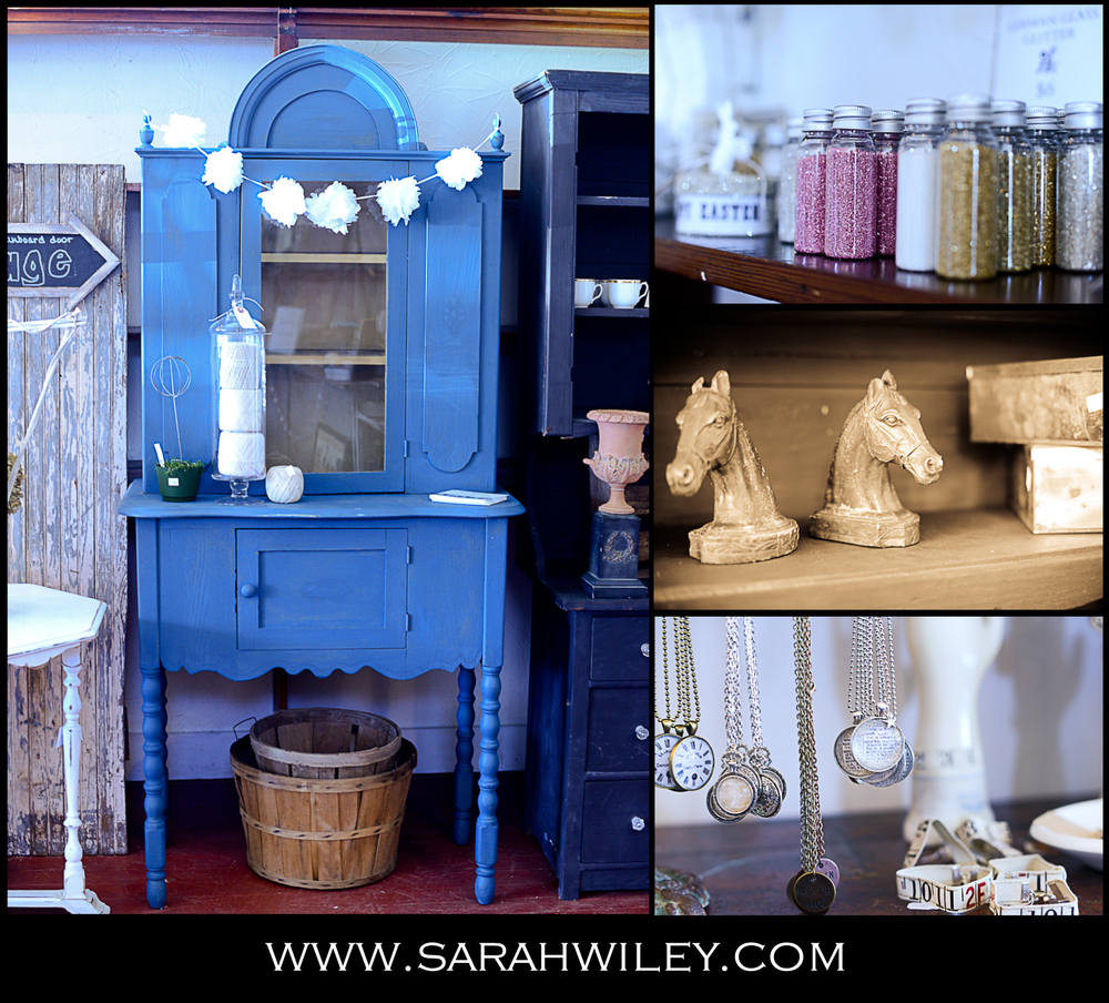 """German glass glitter, Frozen Charlottes, and pheasant feathers. Those are just a few items you can purchase online at The Vintage Farmhouse.com. If you fancy a more personal shopping experience, though, you might want to visit the newly opened brick and mortar    location on State Road 32 between Zionsville and Westfield, Indiana. """"I just had to visit the store while I'm in Indiana. I'm from Connecticut,"""" chirped a very excited patron as she selected just the right blue Mason jars to take home. The store carries a wide and ever changing array of vintage treasures.   Painted, chippy furniture tops the list of highly sought after items. Unique jewelry, burlap floor poufs and even wispy, gypsy style clothing. (I may or may not have purchased a few shirts) All of this housed in a stand-alone building with it's own vintage cool character.     Nicki Winkles, owner of The Vintage Farmhouse, is best known forher wildly popular blog and online store. She began her blog back in 2009 when she and her family moved into an old farmhouse. She was inspired to blog about home styling on a budget. She loves to find great décor cheap or even better, free! Her blog content resonated with likeminded   people and voila, she had a following!"""