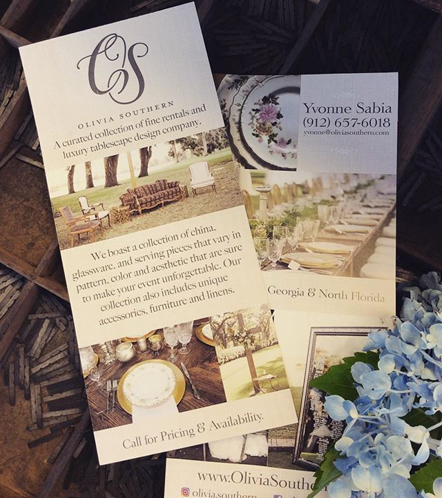 Love this new Rack Card design for our friend Yvonne  best wishes on your new venture ❤️👍🌸👏 . . . #graphicdesign #printing #thomasville #thomasvillega #rackcards #marketing #skylinegraphicsmedia #happycustomer #wedding #weddingdecoration #weddingplanner