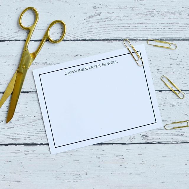 Simple and classic stationery never goes out of style! 📨 We can do foldover notes, flat cards, calling cards, invitations, notepads and more! Want something a little more bright and colorful? We can do that too! Call us and let's get a custom order going for you today - these make great Christmas gifts! #customstationery #snailmail #skylinegraphicsmedia #stationery #personalizedstationery #customprinting #notecards
