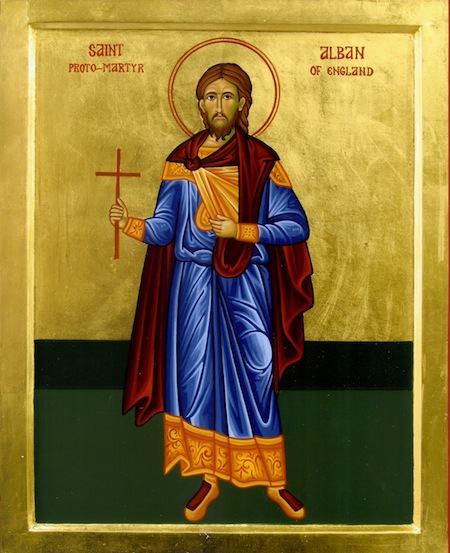 St. Alban, first martyr in Britain and patron Saint of our church