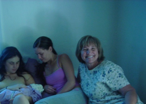 This is my mom's face a few hours after Mycelia was born in 2006. This is how happy my having babies made her.