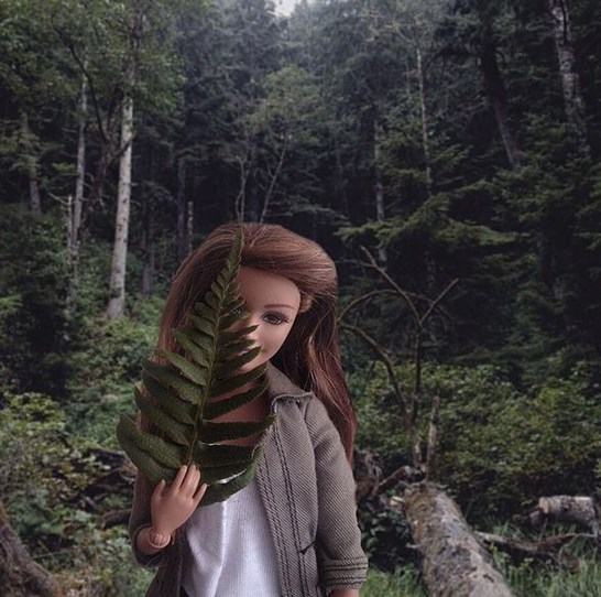 Socality Barbie knows that putting a plant in her Instagram photo gives her instant cred.