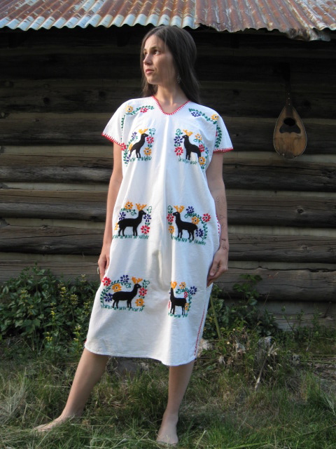 Photo of me wearing Atava's dress on the land of Mariee Sioux's family in 2009 (so young!)