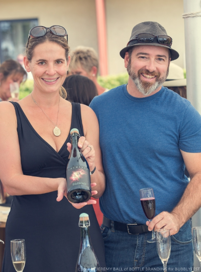 Winemakers Anna and David Delaski of Solminer