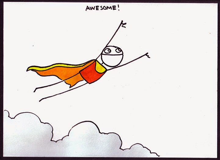 """Awesome!"" illustration by Sam Brown of www.explodingdog.com"