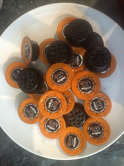 Used coffee pods.