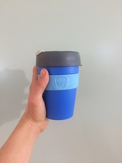 Use reusable coffee cups and live sustainably.