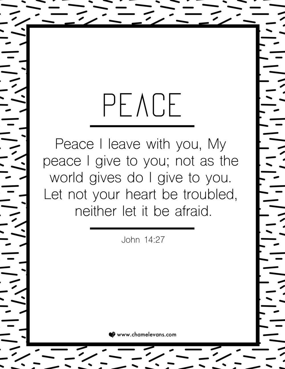 FREE SCRIPTURE ART PRINTABLES - peace - STAND IN GOD'S TRUTH | WWW.CHAMELEVANS.COM