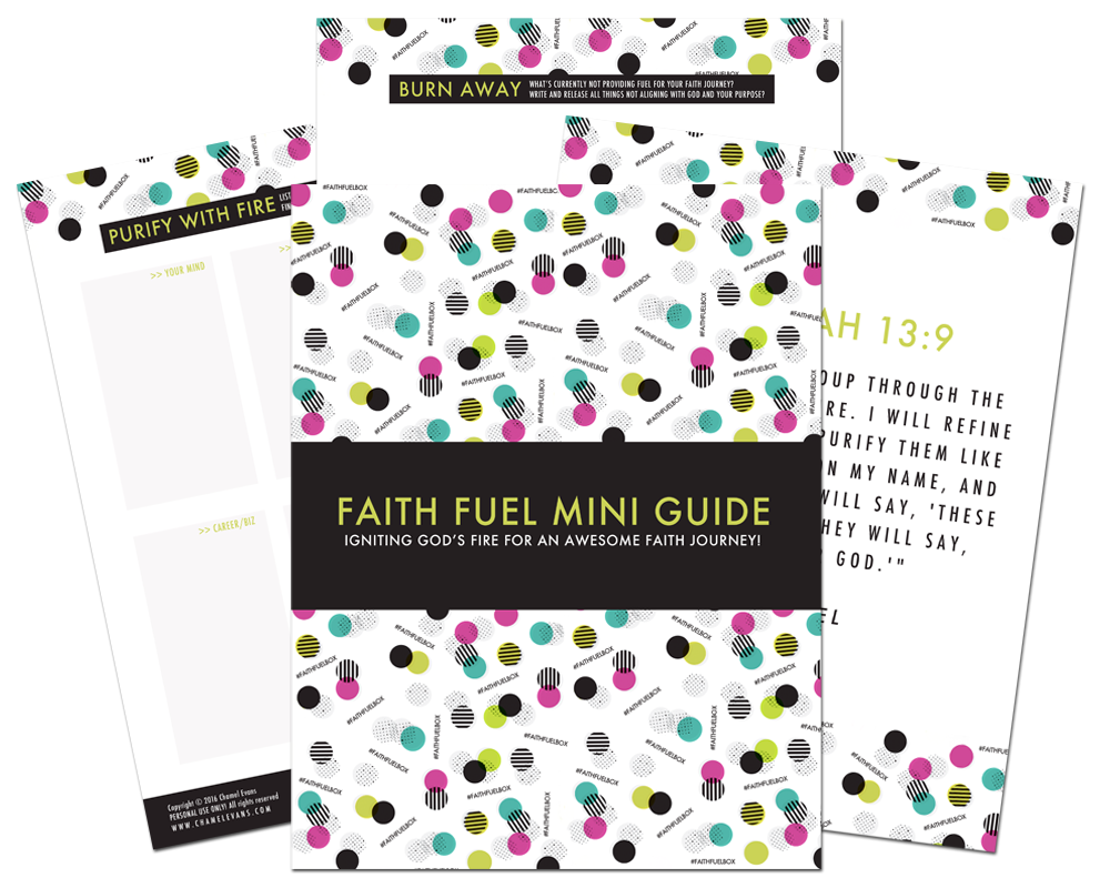 FREE Bonus resource for the #faithfuelbox | www.chamelevans.com | Ignite God's fire for an awesome faith journey!