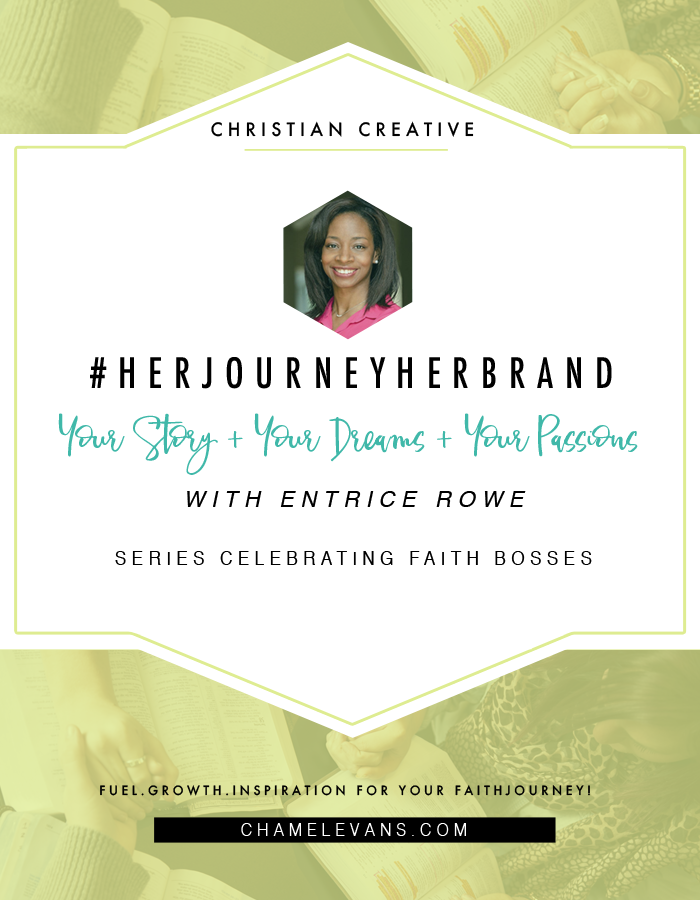 Celebrating Faith Bosses - Stand in your story + dreams + passions.  It's your journey and it's your brand. | www.chamelevans.com