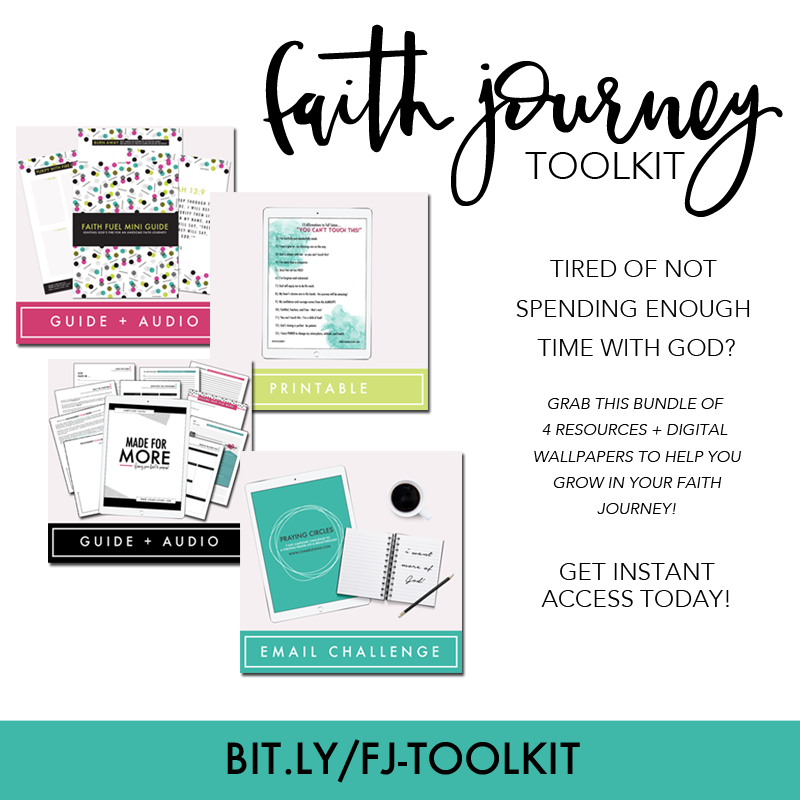 Tired of not spending enough time with God?  Grab the Faith Journey Toolkit to help you grow in your faith journey! | www.chamelevans.com