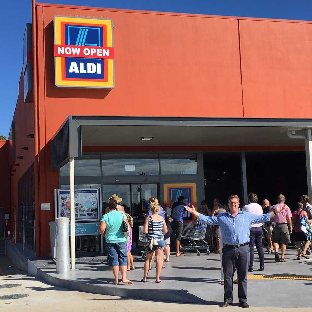 Property Manager Dan Cuda at the opening of ALDI Bargara