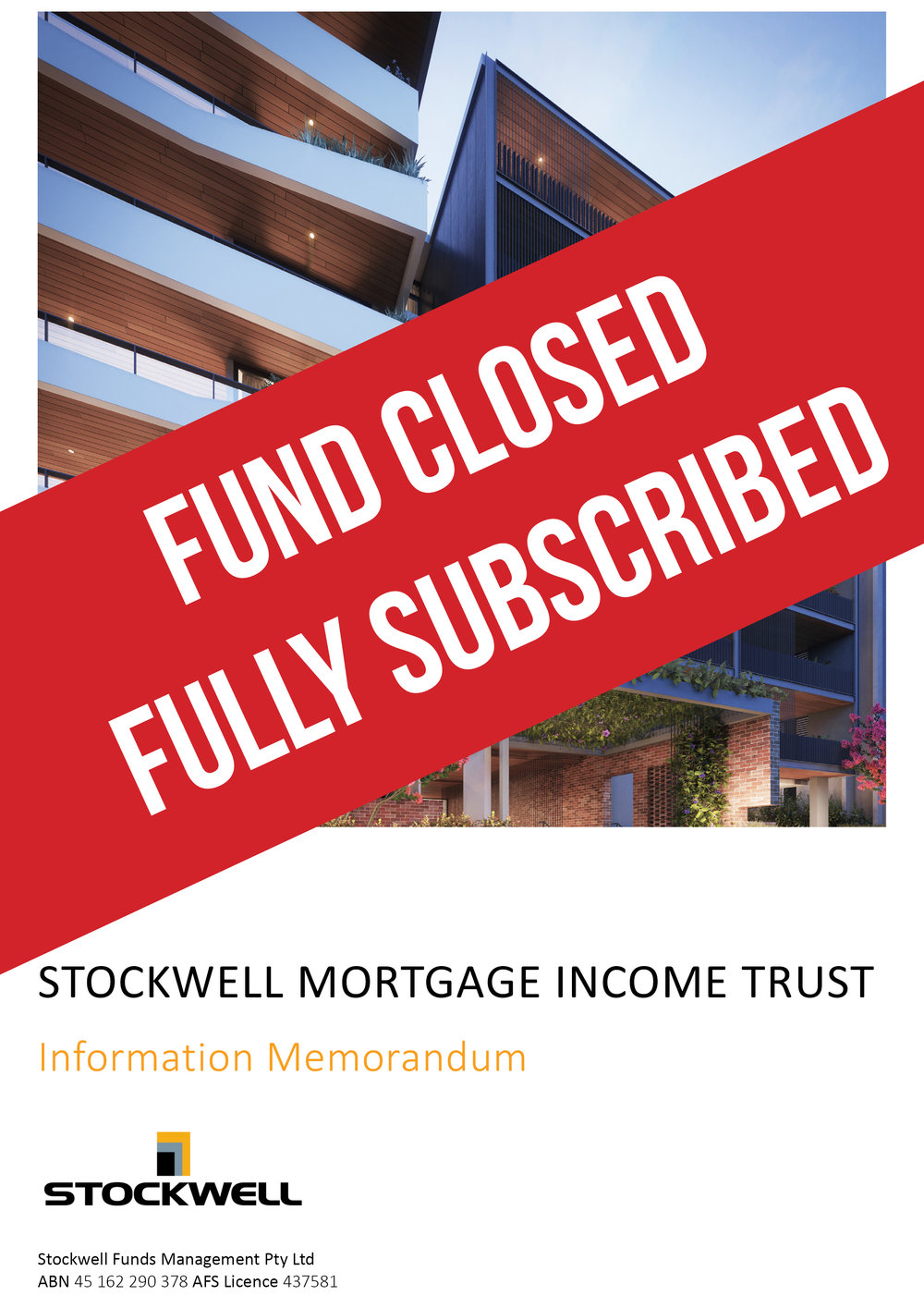 Stockwell mortgage income trust