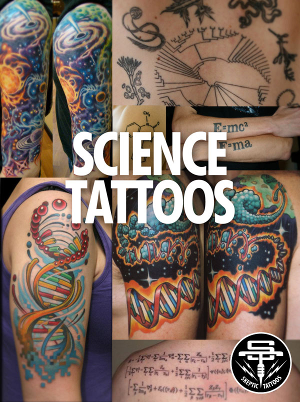Science tattoos are not  exactly  skeptic tattoos.