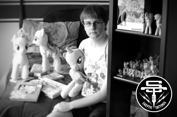 Brony with his My Little Pony Collection. This is NOT an image of Daniel. Photo taken by Aaron Harris for the Toronto Star.