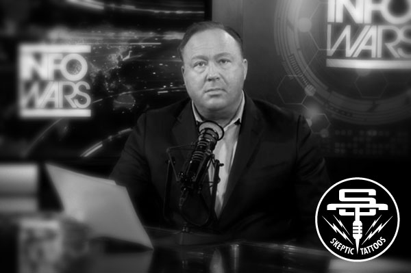 Alex Jones of the American fake news site, Info Wars.