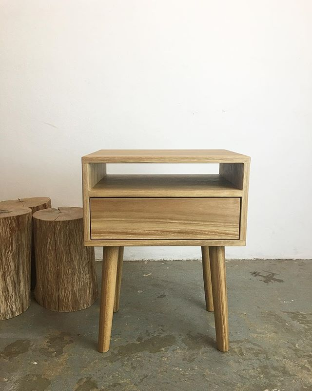 Spotted gum bedside tables