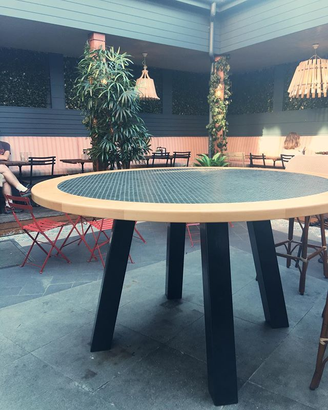 Large outdoor table made in time for Christmas for the @thedograndwick