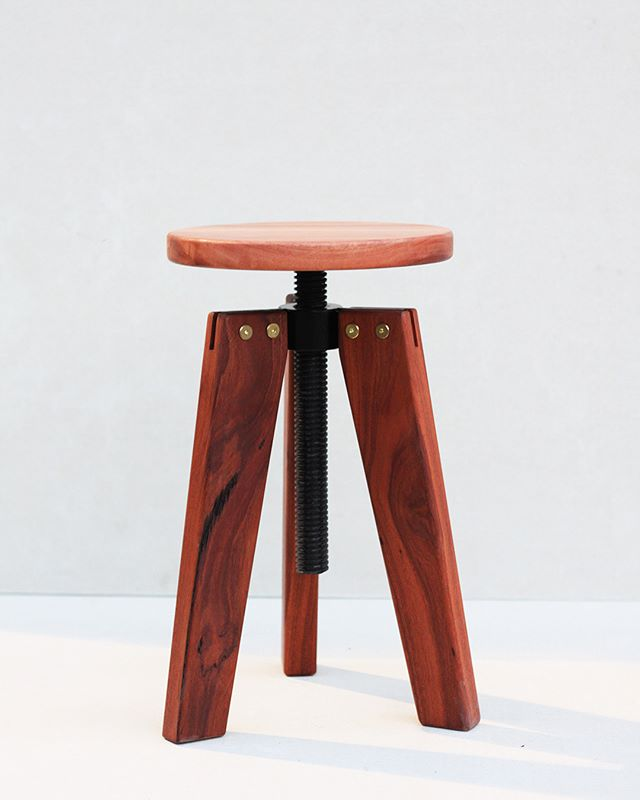 Tri-leg adjustable stool.