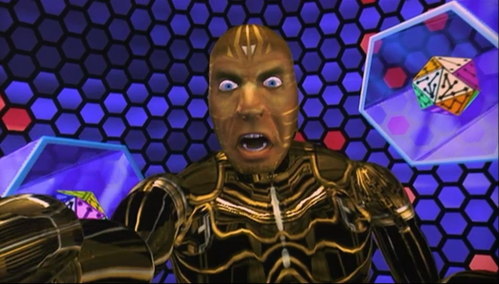 This is the Lawnmower Man - If you haven't seen it yet you have to, It stars Pierce Freaking Brosnan.http://imdb.to/1fge2sv