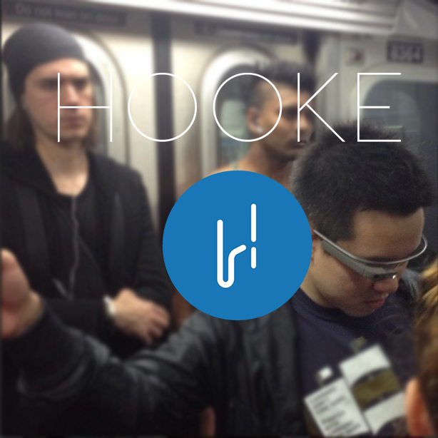 Sneaky Google Glass On The Subway! Don't be this guy.