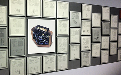 """The """"wall of patents"""" in the lobby of Bose headquarters. Seeing them out and in the open made me realize, these held sentimental value to Amar, he used them to validate his mission. The business however uses them to protect and further grow the business."""