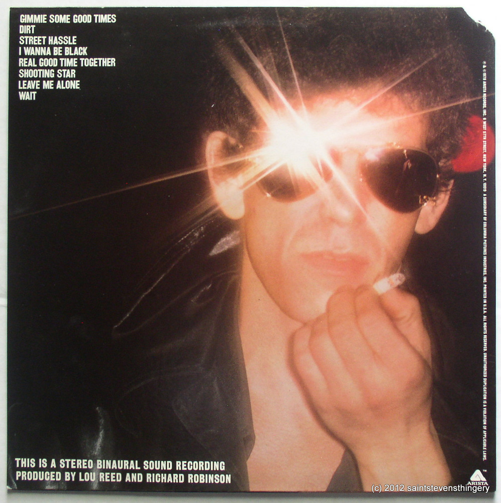 """Street Hassle"" by Lou Reed  is notable as the first commercially released pop album to employ binaural recording technology."