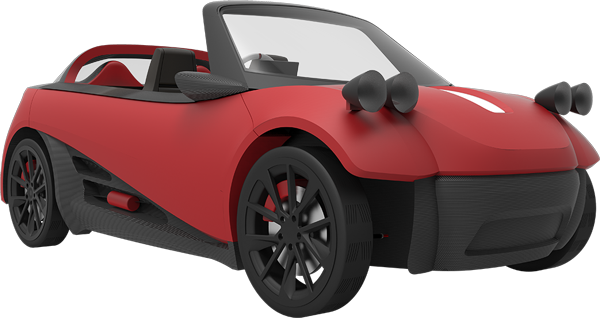 The LM3D, A 3D-printed car series from Local Motors.