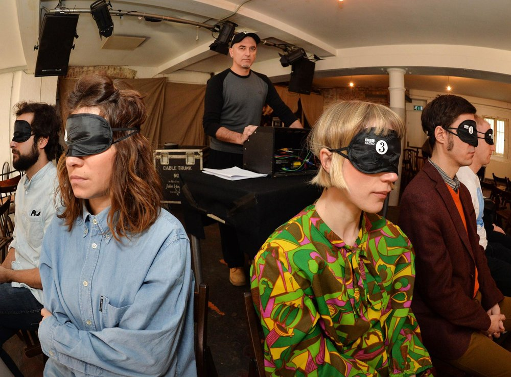 Francisco López and guests at London's Cafe Oto. Photo: © BBC/Mark Allan